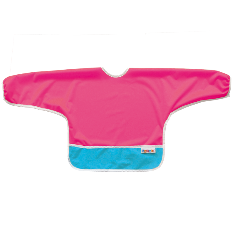 Best Ever Bib Sleeved - Raspberry