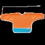 Best Ever Bib Sleeved - Tangerine