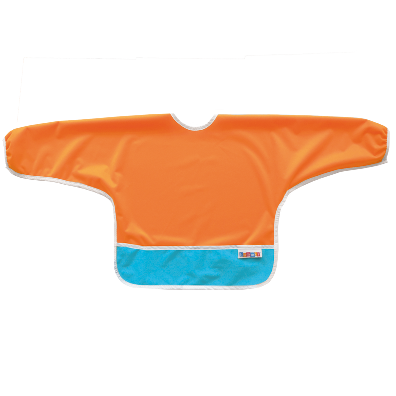 Best Ever Bib Sleeved - Tangerine