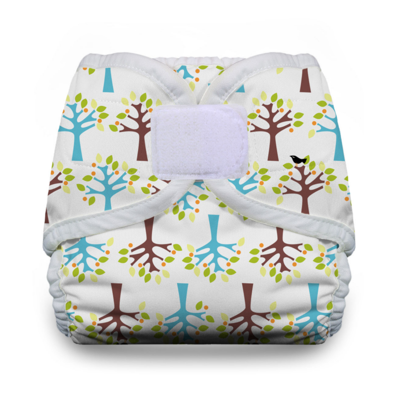 Thirsties Diaper Covers Hook and Loop - Blackbird