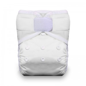 Thirsties One Size Pocket Diaper Hook and Loop - White