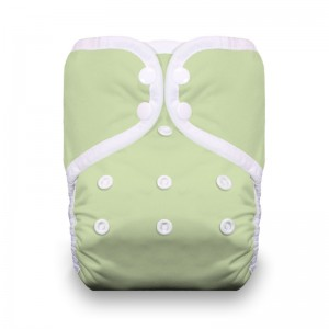 Thirsties One Size Pocket Diaper Snap - Celery