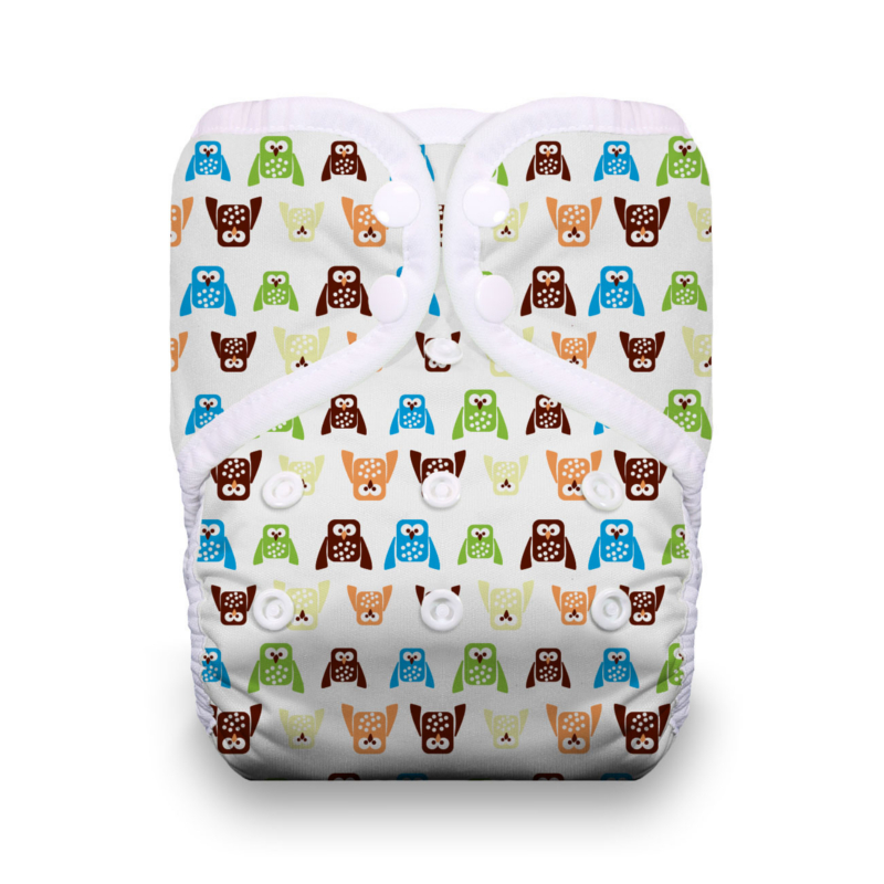 Thirsties One Size Pocket Diaper Snap - Hoot