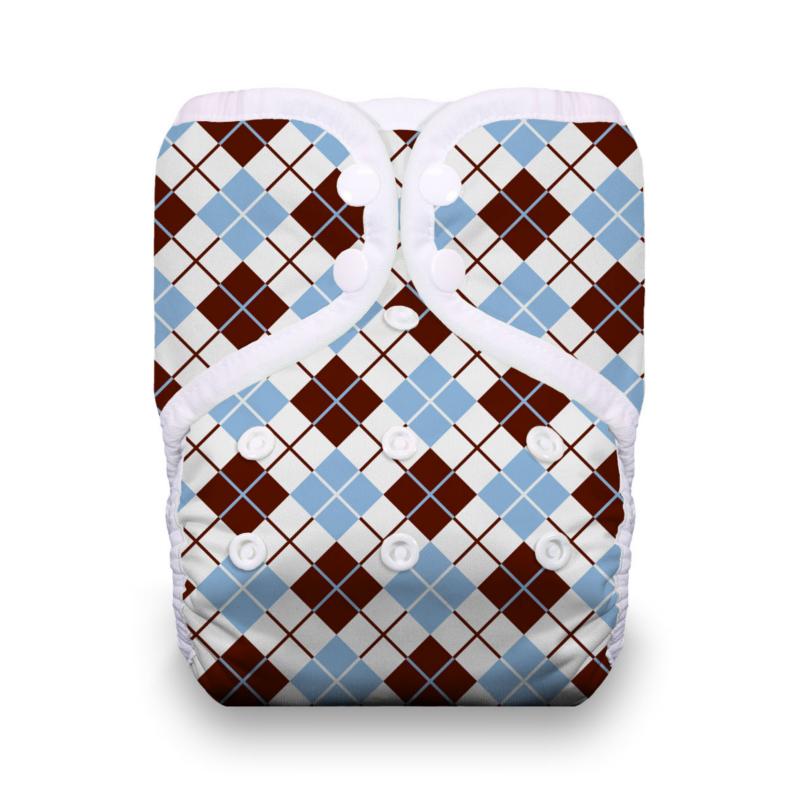 Thirsties One Size Pocket Diaper Snap - Scottish Storm