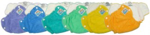 Mother-ease Sandy's Fitted Diapers - coloured cotton