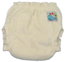Mother-ease Sandy's fitted diaper - unbleached cotton